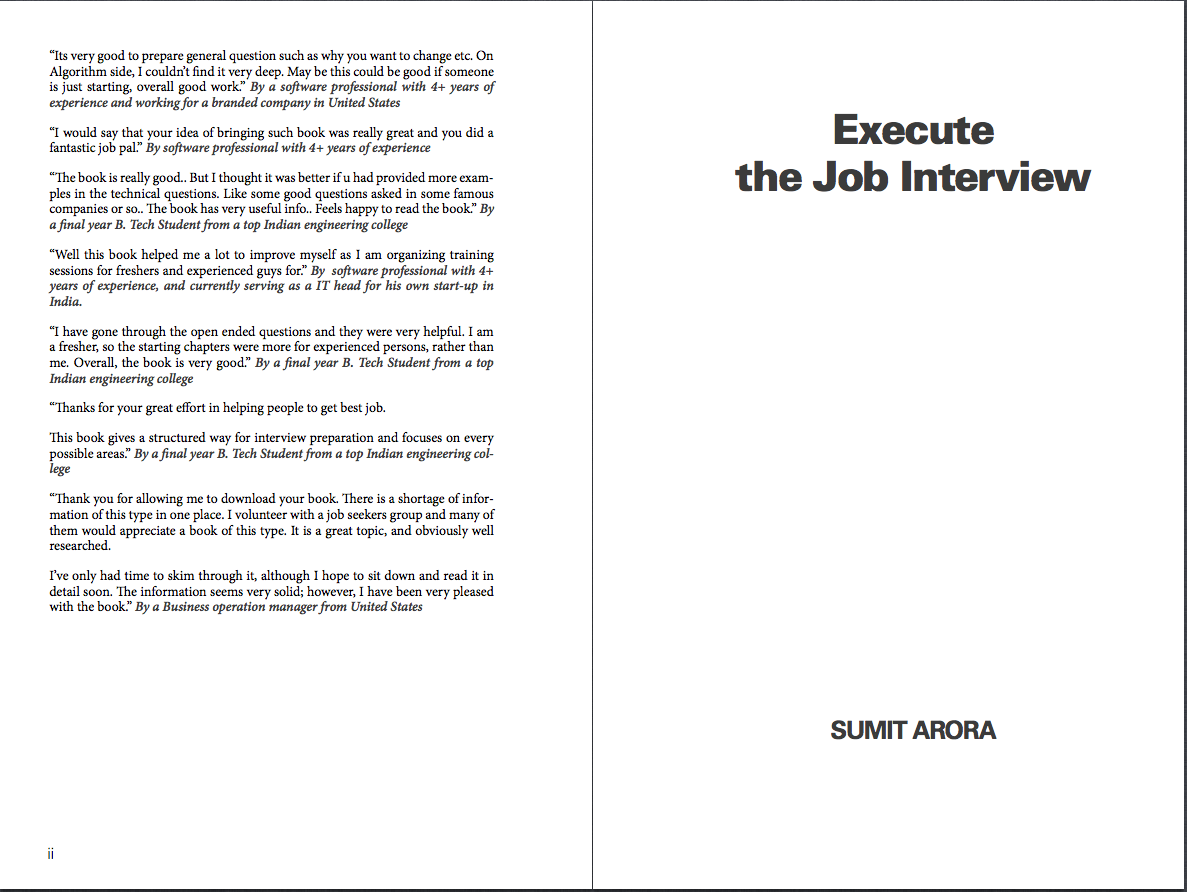 jobinterview exe execute the job interview second edition 01 execute the job interview by sumit arora book cover