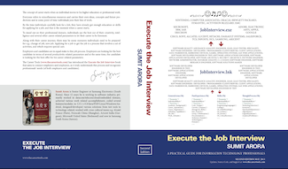 700-page book -Execute the Job Interview-, provides insider's view on what the world's top IT companies are looking for
